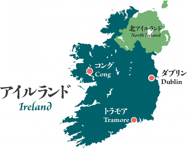 Map of the foorsteps of Lafcadio Hearn in Ireland